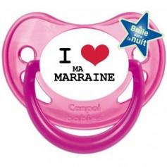"""Tétine bébé """"I love ma marraine"""""""