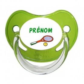 Tétine personnalisée Tennis et Prénom