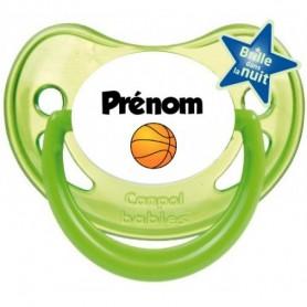 Tétine personnalisée Ballon basket et Prénom