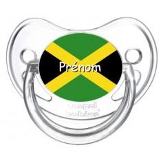 Tétine personnalisée drapeau Jamaïque et prénom