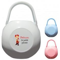 Boîte à tétine personnalisée Pirate Prénom