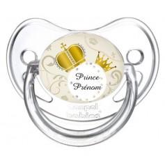 """Tétine personnalisée """"prince"""" et prénom"""