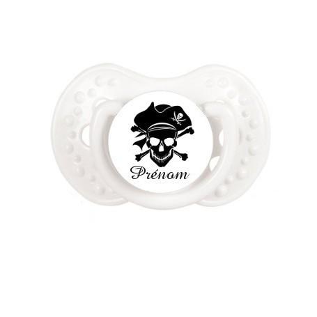 """Tétine personnalisée """"Pirate"""" et prénom"""