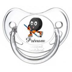 Tétine personnalisée Hockey et Prénom