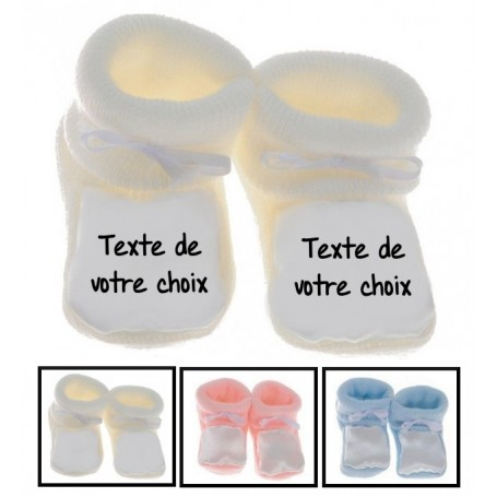 9278cd67b0cbf Chaussons bébé personnalisé message - Tetinebebe