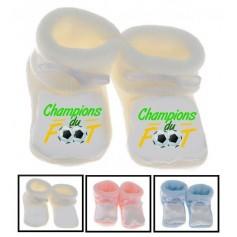 Chaussons bébé Champion de foot