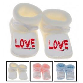 Chaussons bébé Love forever