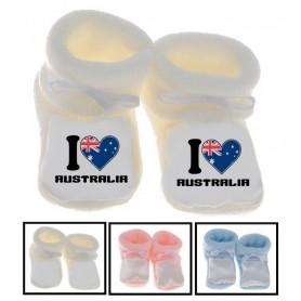 Chaussons bébé I love Australia