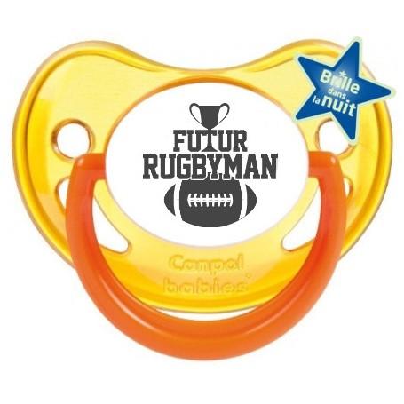 "Tétine bébé humour ""futur rugbyman"""