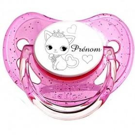 Tétine personnalisée prénom chat princesse