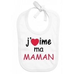 Bavoir bébé J'aime ma maman