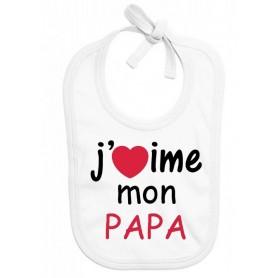 Bavoir bébé J'aime mon papa