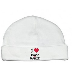 Bonnet bébé J'aime papy et mamie