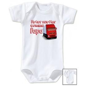 Body bébé Futur routier comme papa