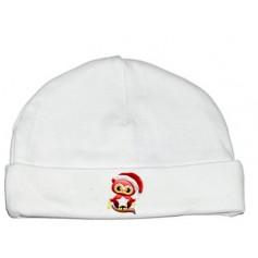 Bonnet bébé Hibou Noël