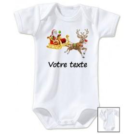 Body bébé Père Noël Traineau