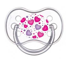 Tétine de bébé sucette coeur