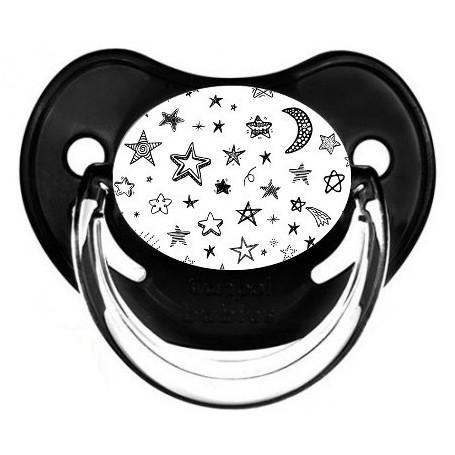 Tétine de bébé étoile lune