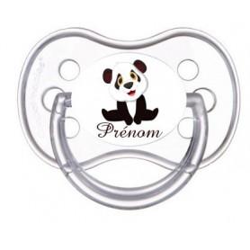 Tétine personnalisée petit panda et prénom