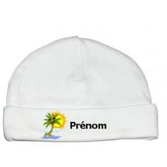 Bonnet personnalisé palmier prénom