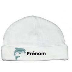Bonnet personnalisé dauphin prénom