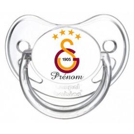 Tétine personnalisée drapeau Galatasaray et prénom