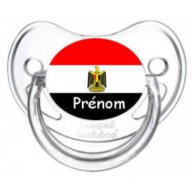 Tétine personnalisée drapeau Egypte et prénom