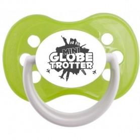 """Tétine bébé humour """"mini globe trotter"""""""
