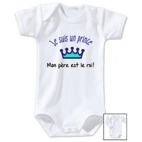 Body bébé Je suis un prince Mon père c'est le roi