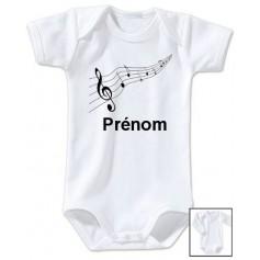 Body personnalisé musique prénom