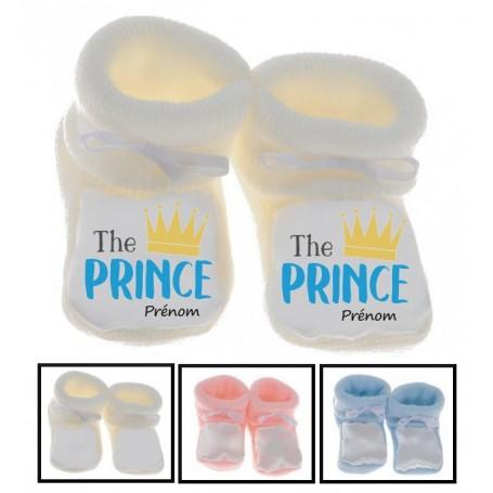 Chaussons bébé The Prince prénom personnalisés