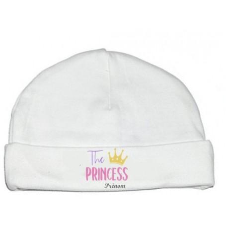 Bonnet personnalisé The Princess prénom