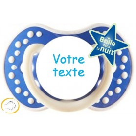 Tétine personnalisée night and day marine
