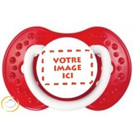 Tétine personnalisée photo Spark rouge