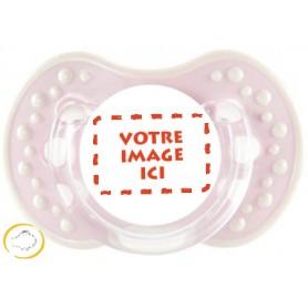 Tétine personnalisée photo Style rose
