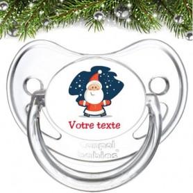 """Tétine bébé personnalisée """"Père Noël"""""""