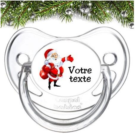 """Tétine personnalisée """"Père Noël et sac"""""""