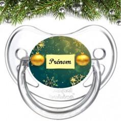 Tétine personnalisée Boule Noël