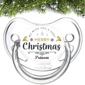 Tétine personnalisée Christmas merry
