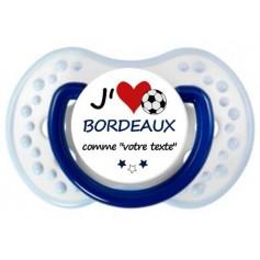 Tétine foot personnalisée J'aime Bordeaux