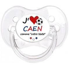Tétine foot personnalisée J'aime Caen