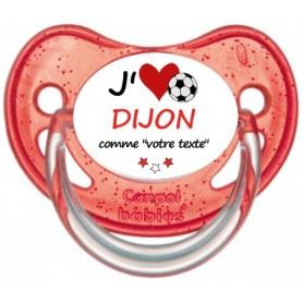 Tétine foot personnalisée J'aime Dijon