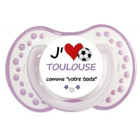 Tétine foot personnalisée J'aime Toulouse