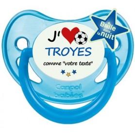 Tétine foot personnalisée J'aime Troyes