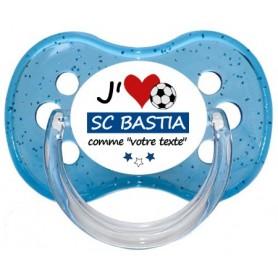 Tétine foot personnalisée J'aime SC Bastia