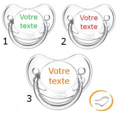 Lot de 3 Tétines personnalisées chupa transparente (physiologique)