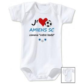 Body bébé personnalisé foot J'aime Amiens SC