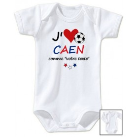 Body bébé personnalisé foot J'aime Caen