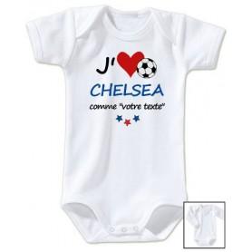 Body bébé personnalisé foot J'aime Chelsea