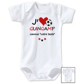 Body bébé personnalisé foot J'aime Guingamp